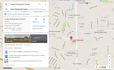 Yoder Chiropractic Center on Google Maps